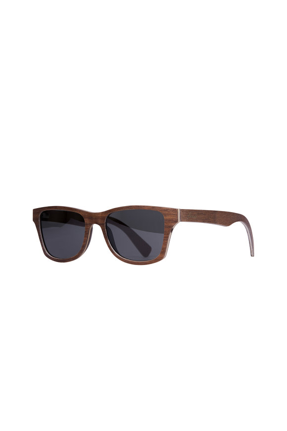 Shwood Canby Walnut Gray Polarized Sunglasses