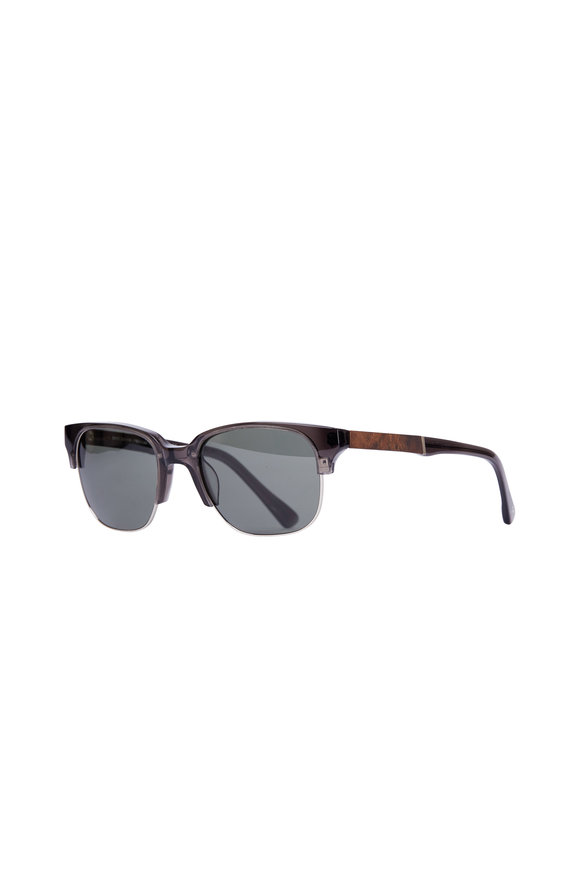 Shwood Newport Black & Mahogany Polarized Sunglasses