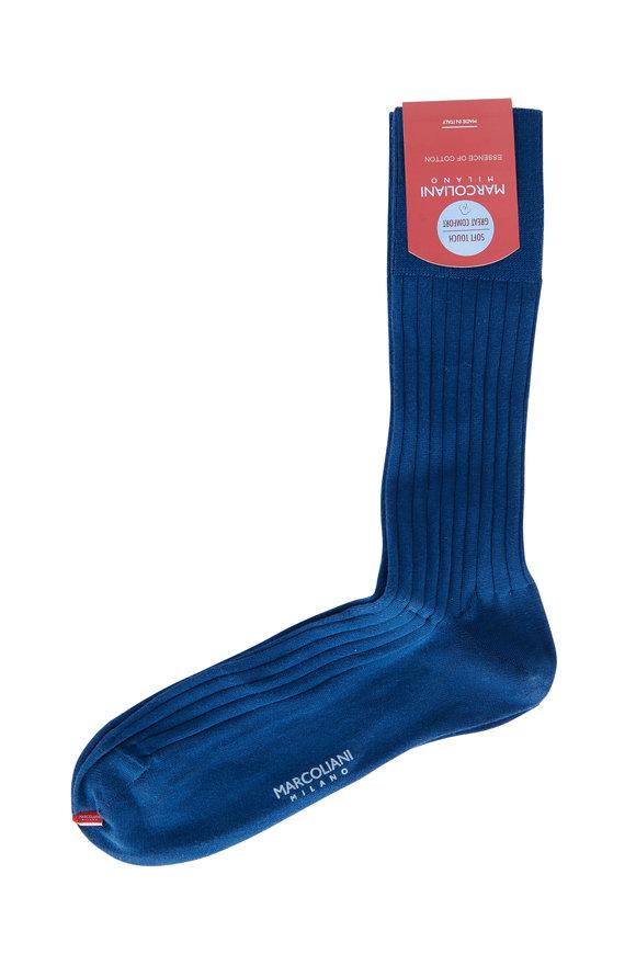 Marcoliani Ocean Ribbed Socks