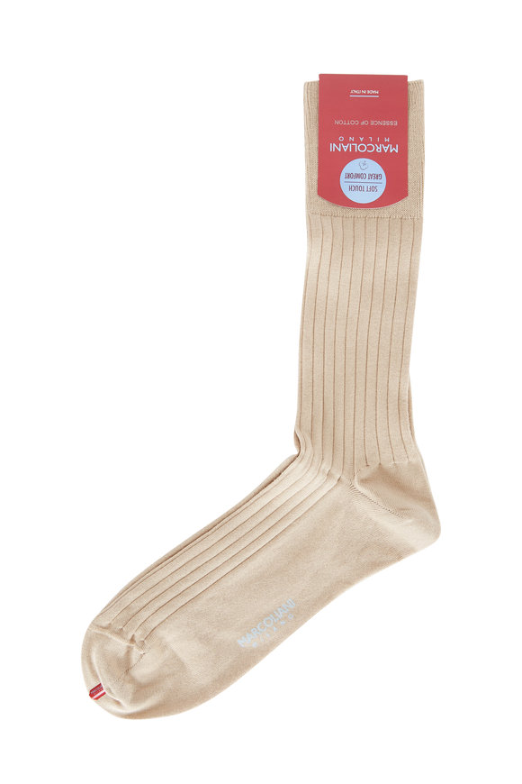 Marcoliani Khaki Ribbed Socks