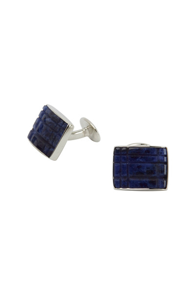 David Donahue - Sterling Silver Sodalite Cuff Links