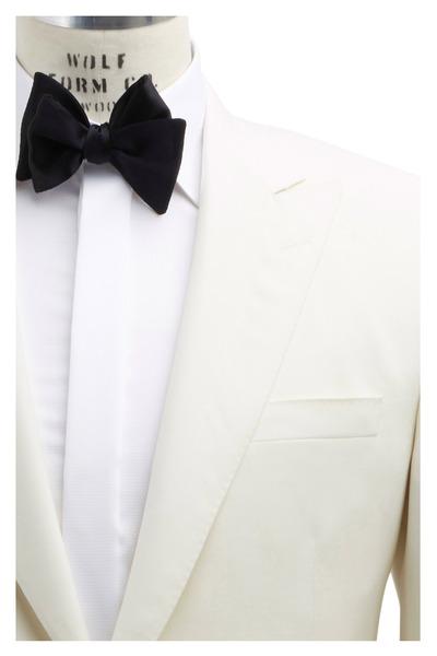 Samuelsohn - Off White Worsted Wool Faille Dinner Jacket