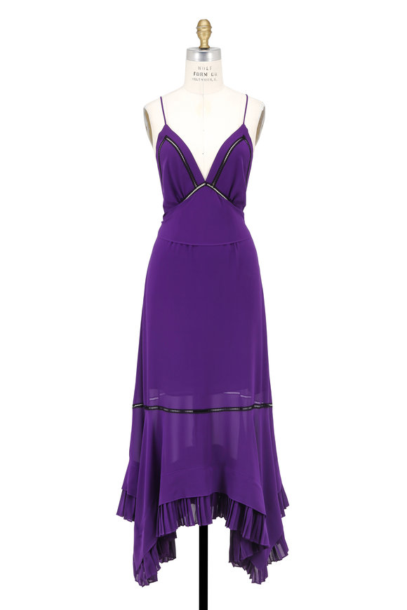 Derek Lam Amethyst Silk Cami Dress