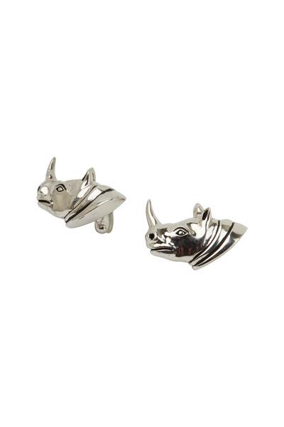 VKNagrani - Sterling Silver Rhinoceros Cuff Links