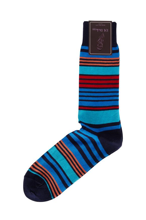 British Apparel Navy Striped Patterned Socks