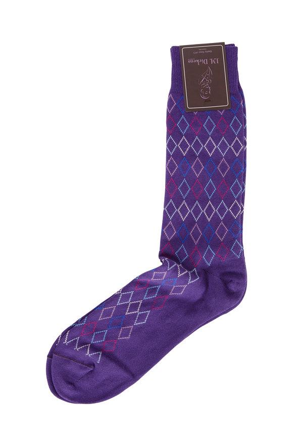 British Apparel Purple Diamond Patterned Socks