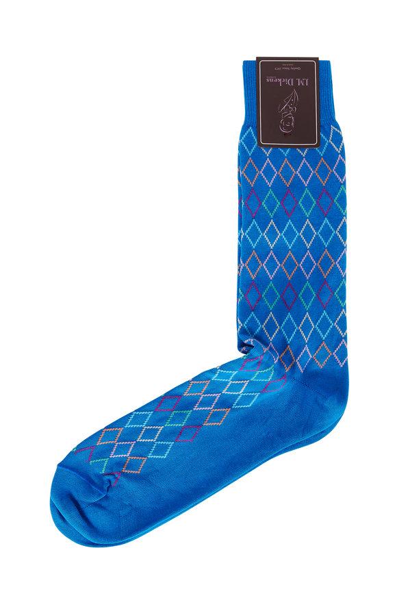 British Apparel Blue Diamond Patterned Socks