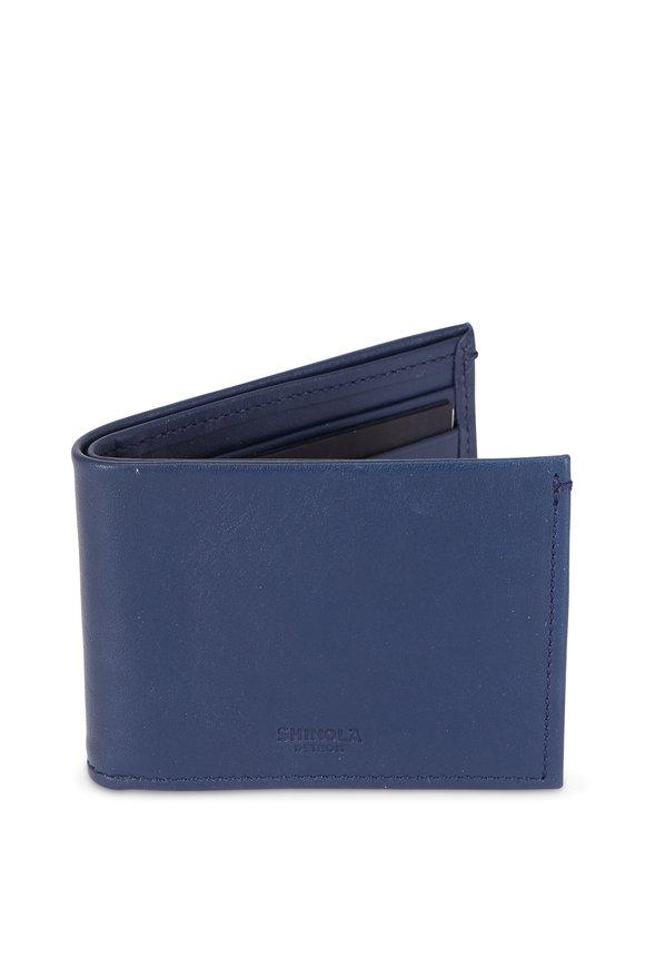 Shinola Ocean Slim Bi-Fold Wallet
