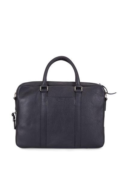 Shinola - Black Leather Computer Briefcase