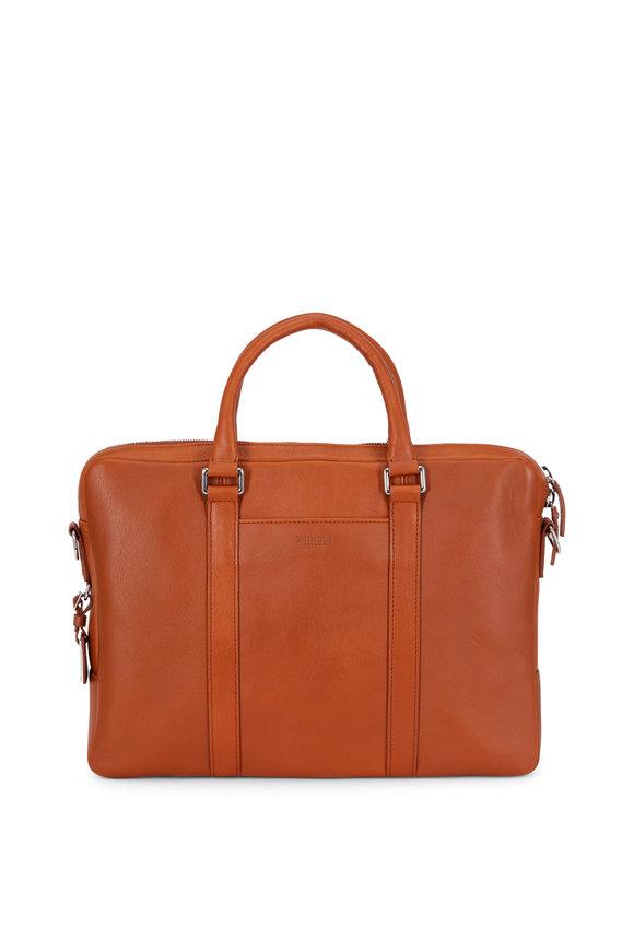 Shinola Tan Leather Computer Briefcase