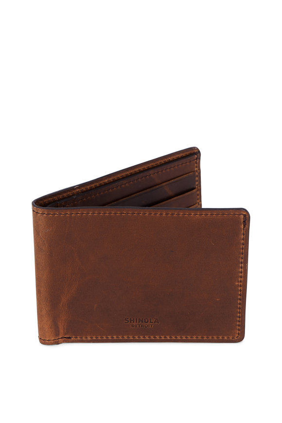 Shinola Brown Leather Bi-Fold Wallet