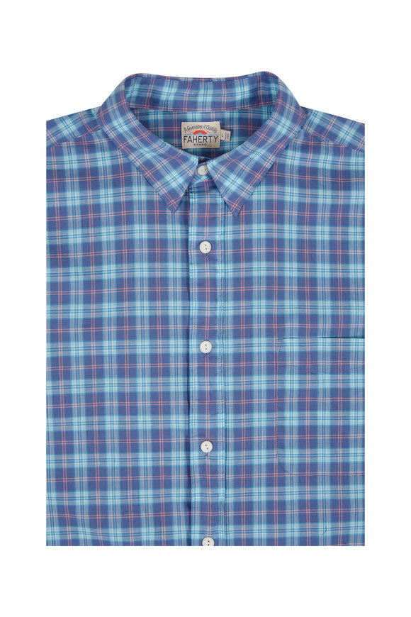 Faherty Brand Ventura Purple Check Sport Shirt