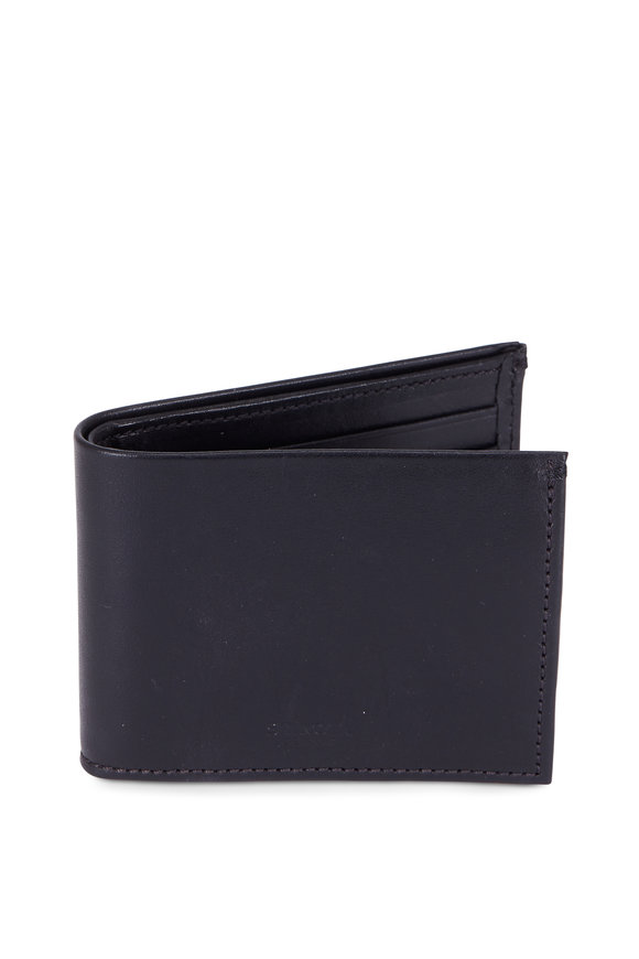 Shinola Black Slim Bill-Fold Wallet