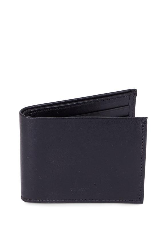 Shinola Black Slim Bill-Fold Wallet