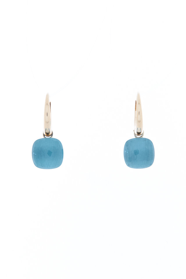 Nudo 18K Rose Gold Blue Topaz Drop Earrings