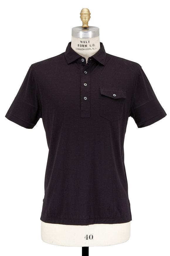 Polo Ralph Lauren Black Cotton Pocket Polo