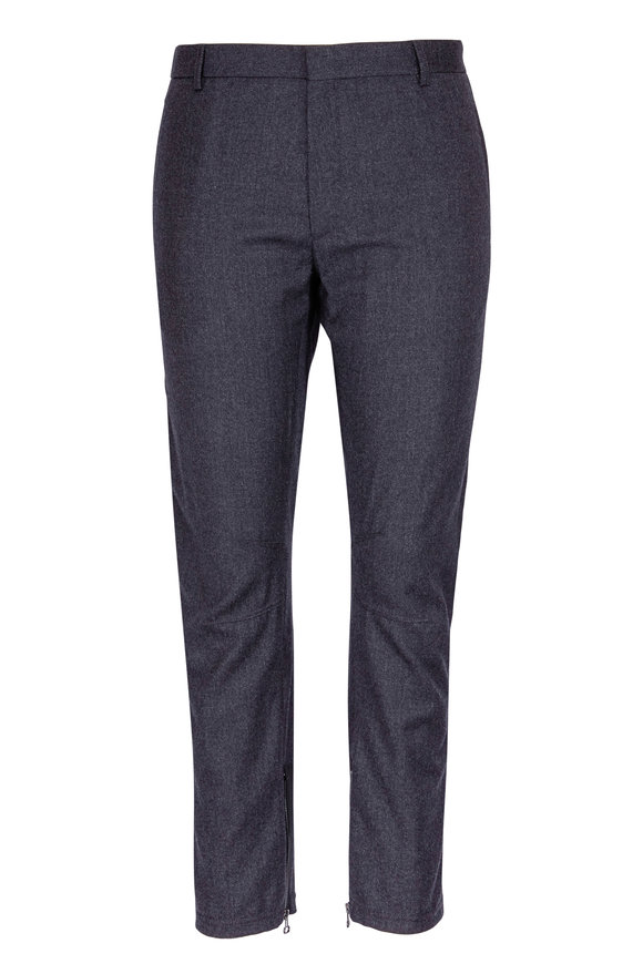 Lanvin Gray Wool & Cashmere Ankle Zip Pant