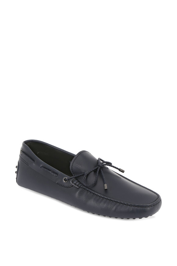 Tod's Scooby Navy Blue Leather Tie Driver
