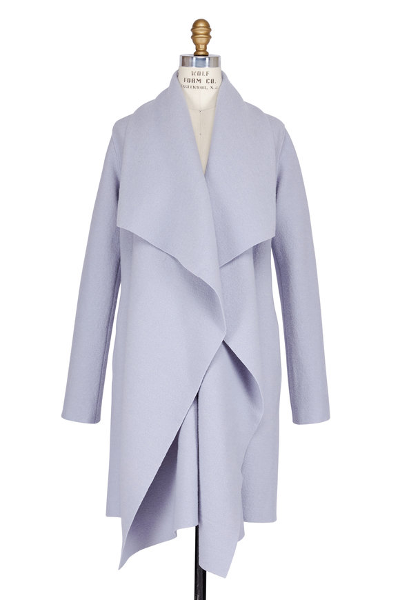 Harris Wharf Ice Grey Wool Blanket Coat