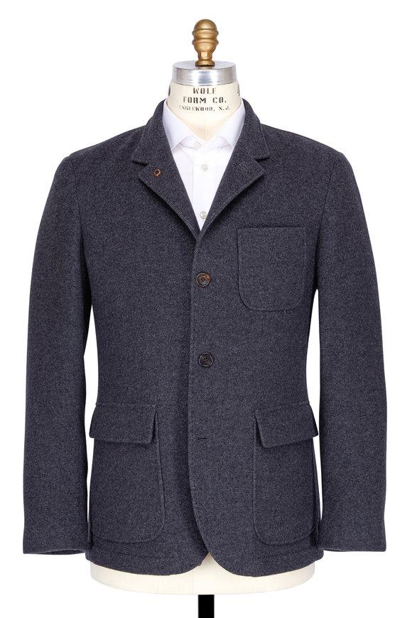 Brunello Cucinelli Charcoal Grey Cashmere Blazer