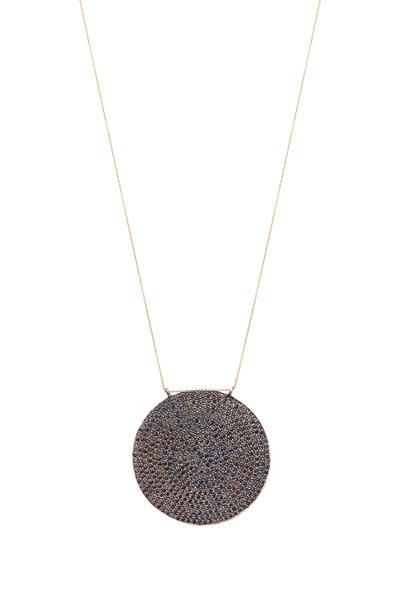Tulah Jem - Rose Gold Blue Sapphire Pendant