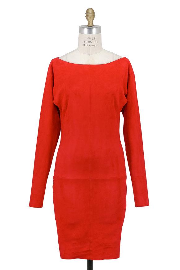 Jitrois Bat Red Kiss Long Sleeve Dress