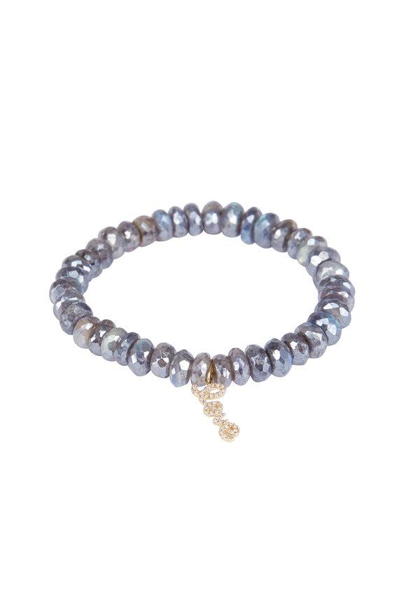 Sydney Evan Labradorite Love Charm Bracelet