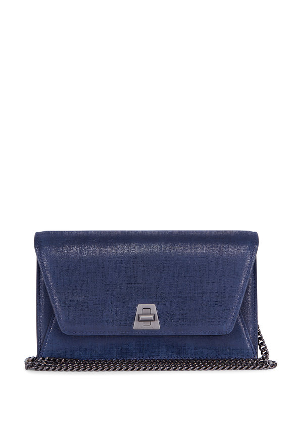 Akris Anouk Denim Printed Leather Chain Shoulder Bag