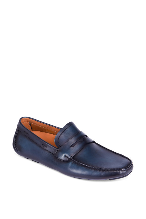 Magnanni Dylan Navy Blue Leather Driver