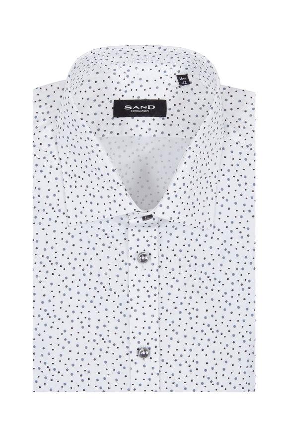 Sand Staten White Ink Spot Sport Shirt