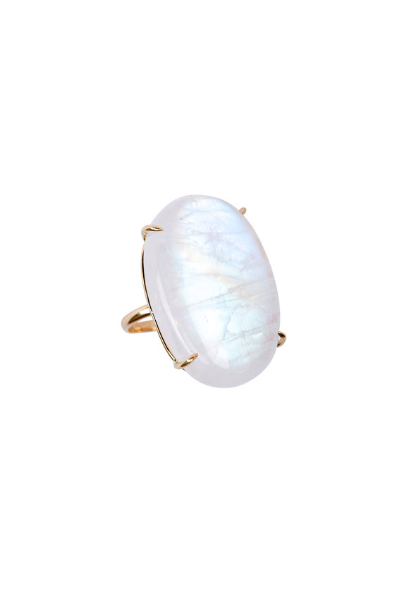 Emily & Ashley 18K Yellow Gold Moonstone Ring