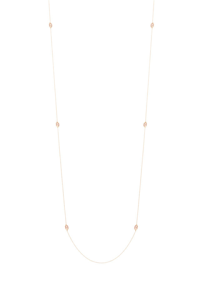 Pink Gold Ruby Lips Necklace