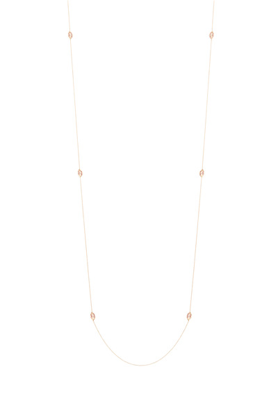 Tulah Jem - Pink Gold Ruby Lips Necklace