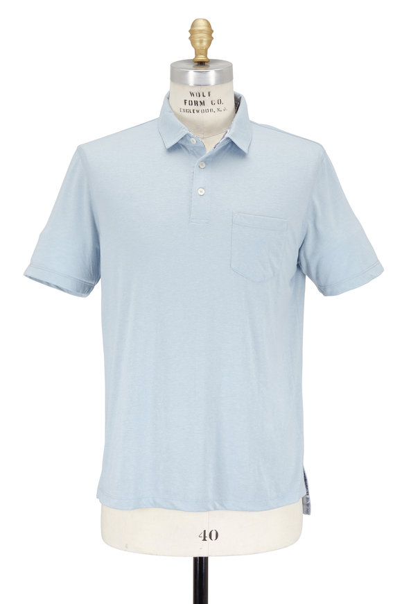 Tailor Vintage Blue Performance Pocket Polo
