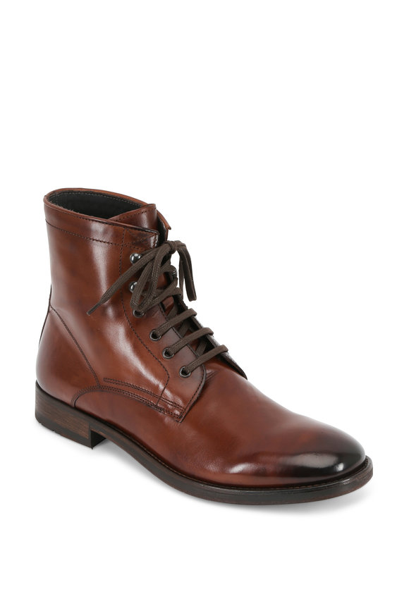 To Boot New York Astoria Marrone Burnished Leather Boot