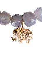 Sydney Evan - Gray Moonstone Elephant Charm Bracelet