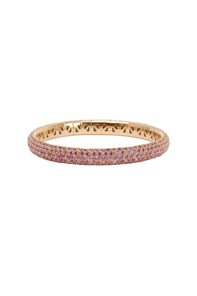 18K Pink Gold Pink Sapphire Bracelet