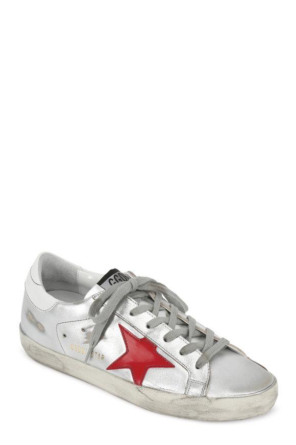 Golden Goose Women's Superstar Silver Leather Low-Top Sneaker