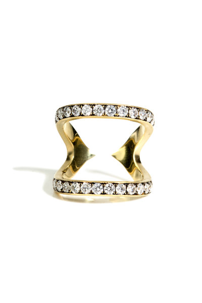 Sylva & Cie - 18K Yellow Gold Diamond Wonder Woman Ring