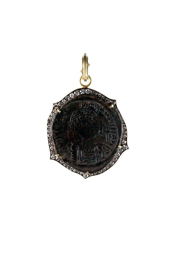 Sylva & Cie 18K Gold Justinian Byzanite Empire Coin Pendant