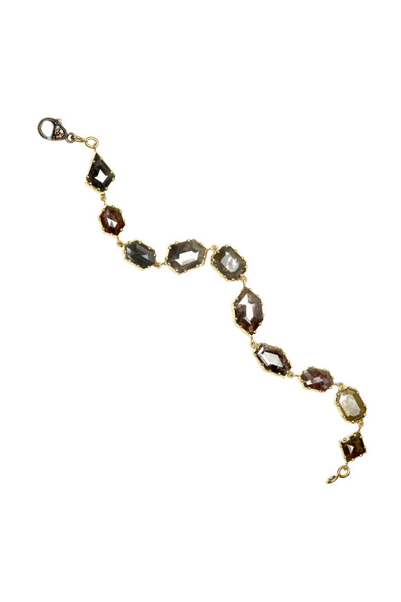 Sylva & Cie 18K Yellow Gold Rough Diamond Bracelet