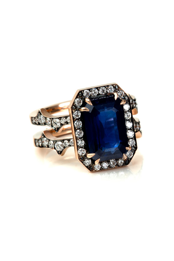 Sylva & Cie 14K Rose Gold Sapphire & Diamond Ring