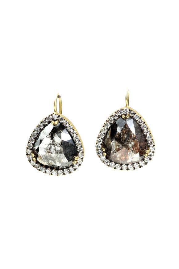Sylva & Cie 18K Yellow Gold Rough Diamond Earrings