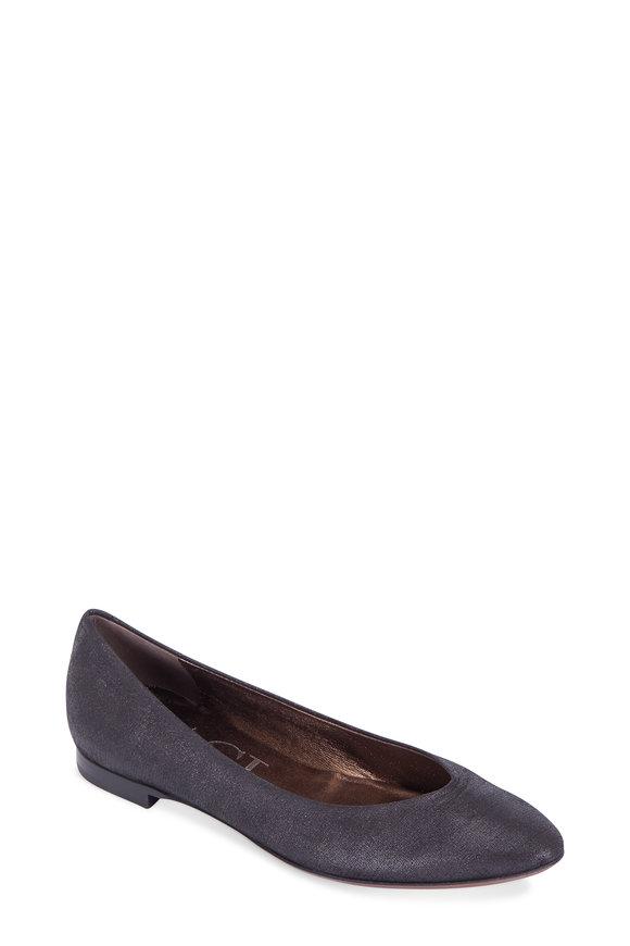 AGL Francy Black Burma Leather Ballet Flat