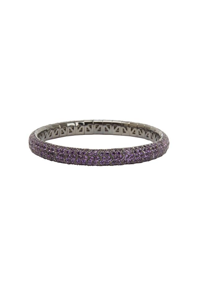 18K Rhodium Gold Amethyst Bracelet
