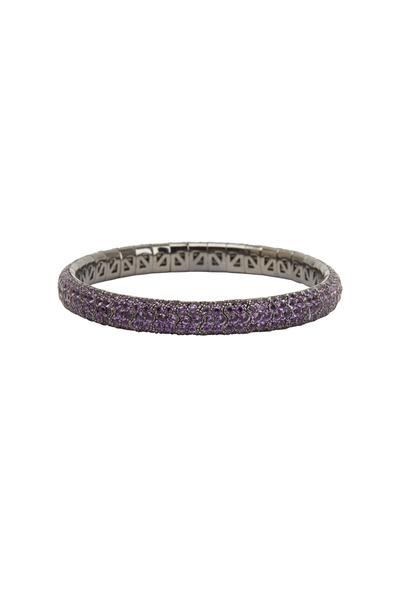 Mattia Cielo - 18K Rhodium Gold Amethyst Bracelet