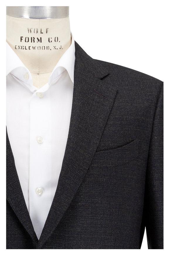 Ermenegildo Zegna Solid Olive Green Wool Sportcoat