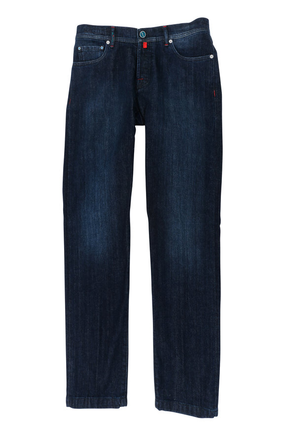 Kiton Dark Denim Slim Fit Five Pocket Pant