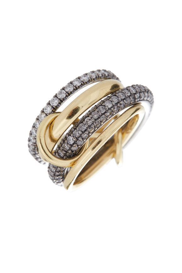 Spinelli Kilcollin 18K Gold & Silver Diamond Four Link Vega Ring