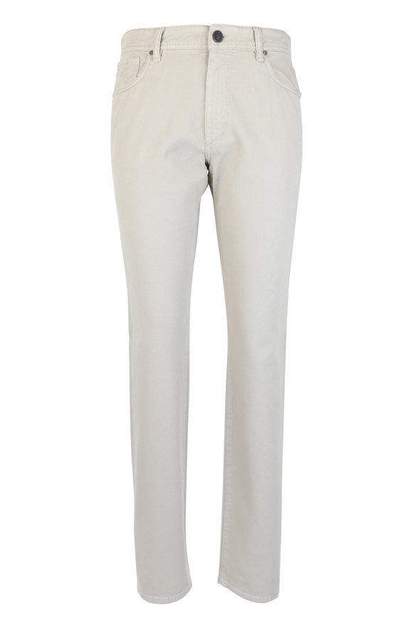 Luciano Barbera Stone Stretch Cotton Five Pocket Pant